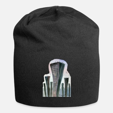 Mist City in mists - Jersey Beanie