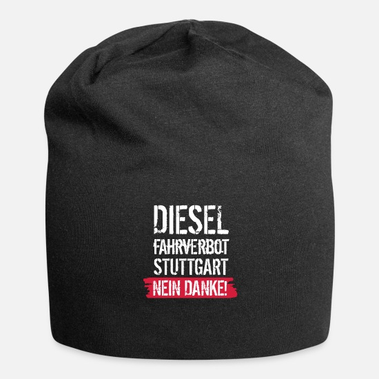 Diesel Caps & Hats - Diesel driving ban, no thanks! Against diesel ban - Beanie black