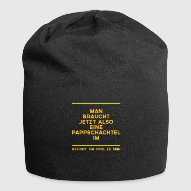 Cardboard box on the face - Jersey Beanie