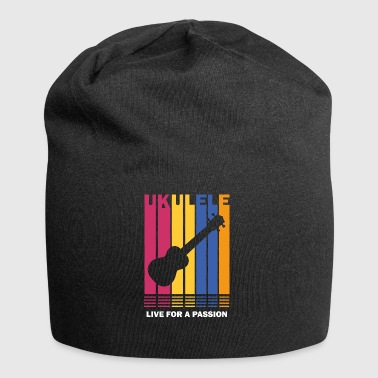 live for a passion ukulele - Jersey Beanie