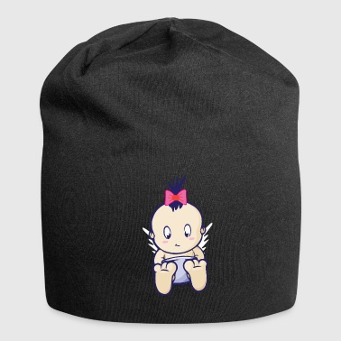 Baby girl girl with a bow - Jersey Beanie