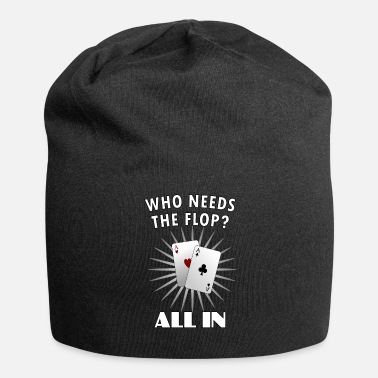 Holdem Poker - Poker - ALL IN - Ass - Vegas - Holdem - Jersey-beanie