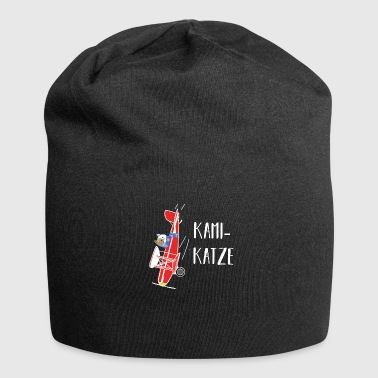 Kamikaze cat pun game gift idea - Jersey Beanie