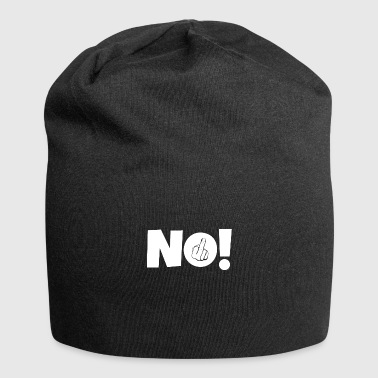 Middle-finger NO! Middle finger stinky finger - Jersey Beanie