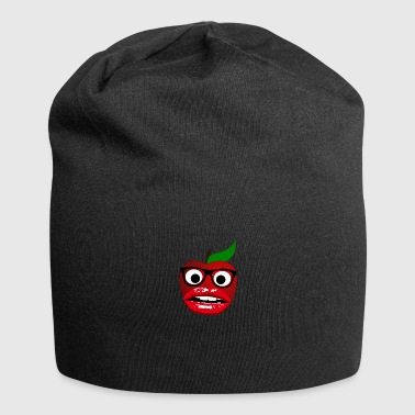 Apple with big mouth and glasses - Jersey Beanie