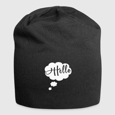 Hello - Thought bubble white - Jersey Beanie