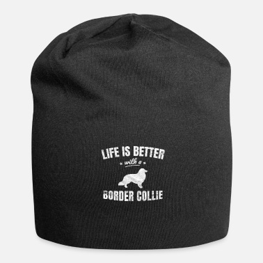 Border Collie Border collie border collie regalo - Gorro holgado de tela de jersey