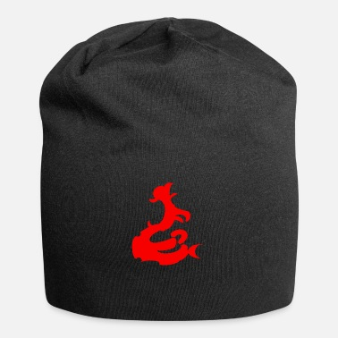 Baroque Pattern element baroque red - Jersey Beanie