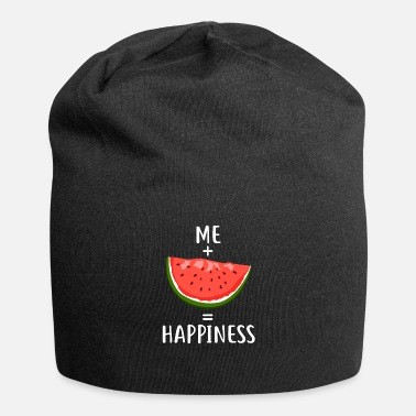 Happiness Me + Watermelon = Happiness - Jersey-Beanie