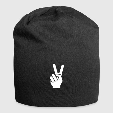 Peace finger sign for peace - Jersey Beanie