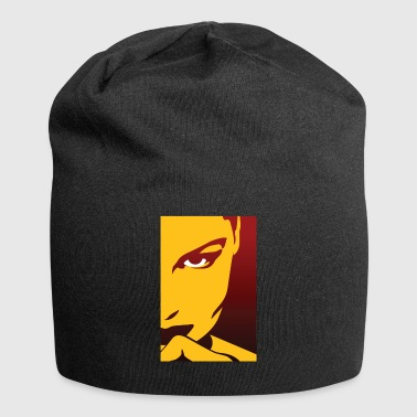 Face Of An Attractive And Mysterious Woman - Jersey Beanie