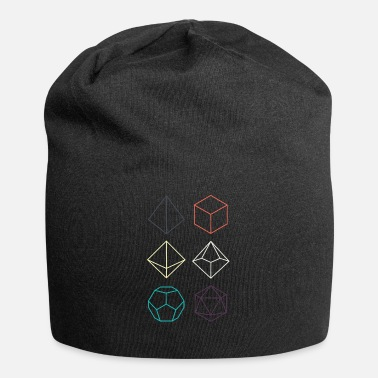 Dungeons And Dragons Minimal dnd (dungeons and dragons) dice - Jersey Beanie