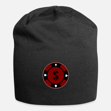 Poker Gioco di carte idea regalo cool con chip di poker - Beanie in jersey