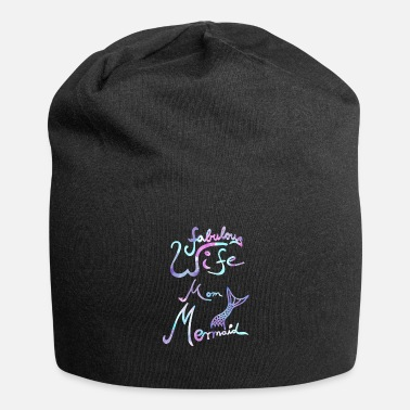Mom Fabulous Wife Mom Mermaid Meerjungfrauen Geschenk - Beanie
