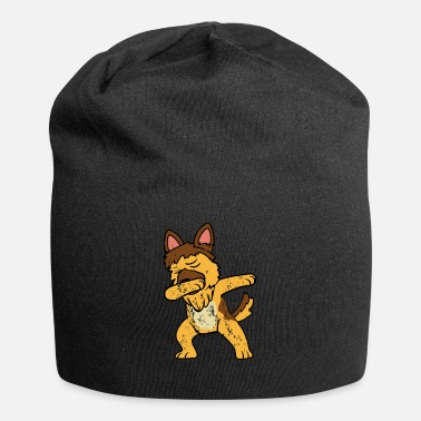 Tedesco Retro Vintage Dabbing Dab German Shepherd - Beanie in jersey