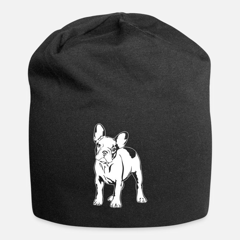 mode la plus désirable super pas cher se compare à Los Angeles BULLDOG FRANÇAIS - Support FRANÇAIS BULLDOG Bonnet en jersey - noir