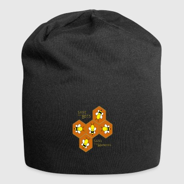 Save the bees, save the Humans - Jersey Beanie