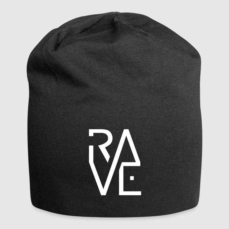 Rave Minimal Text Electronic Music Techno Schrift - Jersey-Beanie