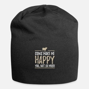 Koe Cow Happy Farm Farmer Animal Agriculture - Jersey-Beanie