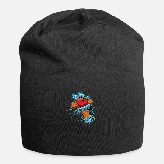 Love Caps & Hats - Love pain - Beanie black