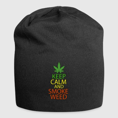 Keep Calm and Smoke Weed - Jersey Beanie