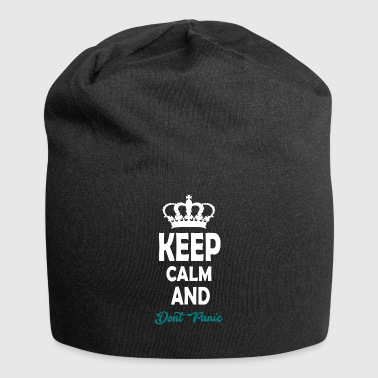 keep calm and dont panic - Jersey Beanie