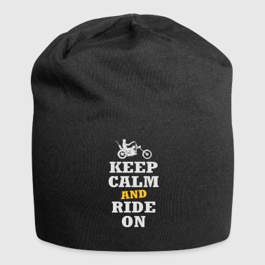 keep calm and ride on motorcycle - Jersey Beanie