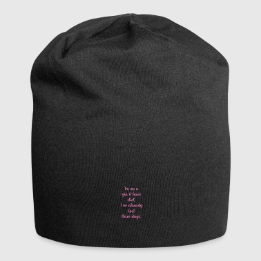Gin Tonic Diet Handwriting - Jersey Beanie
