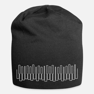 Synthesizer keys, keyboard, piano - Jersey Beanie
