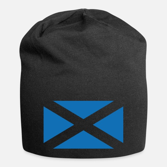 Scotland Caps & Hats - Flag of Scotland - The Saltire - Beanie black