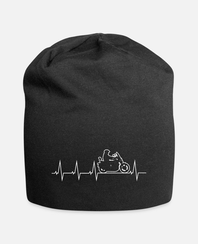 Heart Caps & Hats - I love my motorcycle - forth percussion - Beanie black