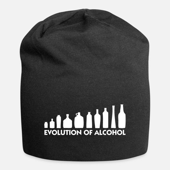 Alcohol Caps & Hats - The Evolution Of Alcohol - Beanie black