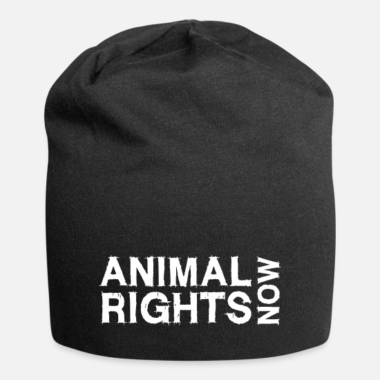 Animal Rights Activists Caps & Hats - ANIMAL RIGHTS NOW_02 - Beanie black
