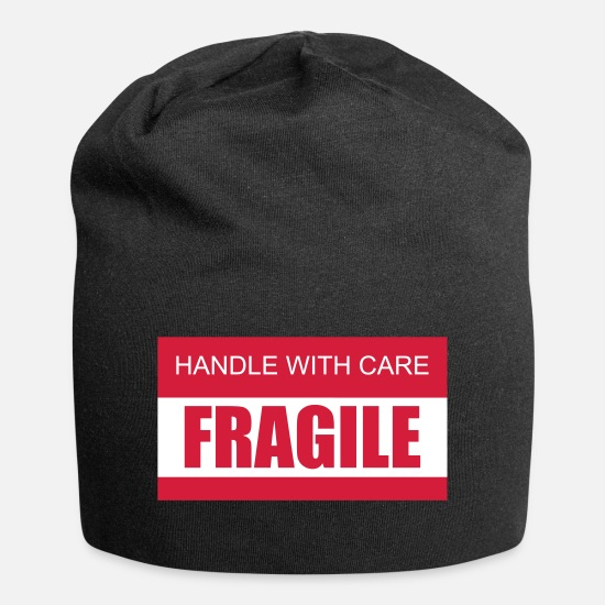 With Caps & Hats - FRAGILE Handle with care 2c - Beanie black