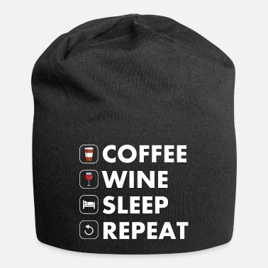 Coffee Wine Sleep Repeat - Beanie
