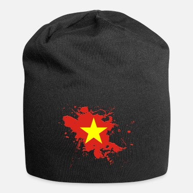 Ink Vietnam flag as a splash of color - Beanie