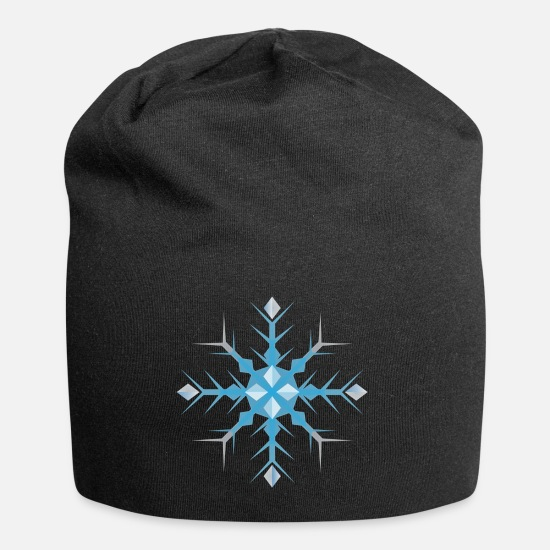 Christmas Caps & Hats - Ice Crystal - Beanie black