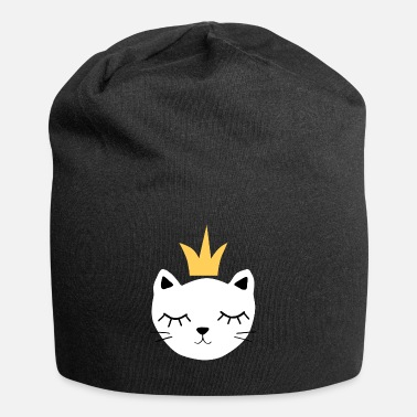 White cat with crown - Beanie