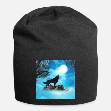 Wolf Awesome wolf in the night - Beanie