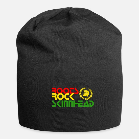 Rastafari Caps & Hats - ROOTS SKIRT SKINNHEAD SKIN trojan oi - Beanie black