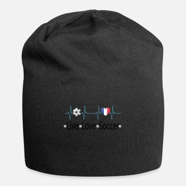 Ballon De Foot Live love soccer heart fan france - Beanie