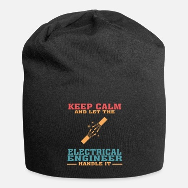 Electricity Funny Electrical Engineer Tshirt, Keep Calm - Beanie