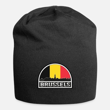 Country Brussels Belgium Skyline Silhouette Austrian Flag - Beanie