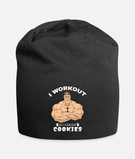 Novelty Caps & Hats - Workout Sweet reward Funny gift - Beanie black
