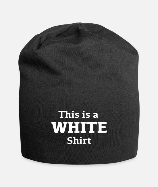 White Caps & Hats - White tshirt - Beanie black