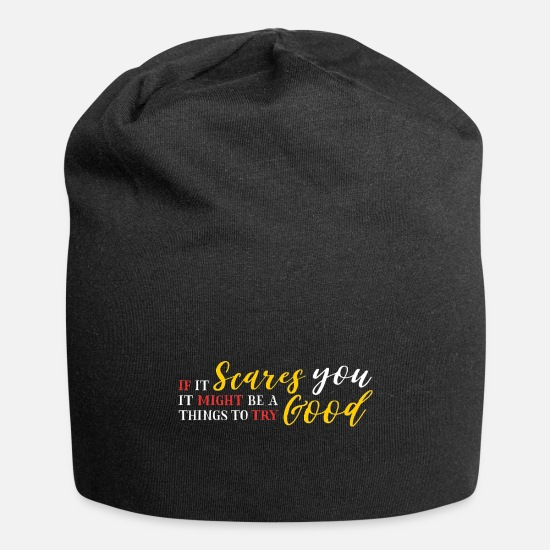 Travel Caps & Hats - When you are scared, traveling is just right - Beanie black