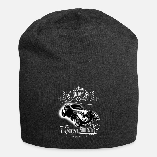 Move Caps & Hats - life is movement - Beanie charcoal grey