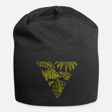 Triangle Monstera, triangle, leaves, jungle, summer - Beanie