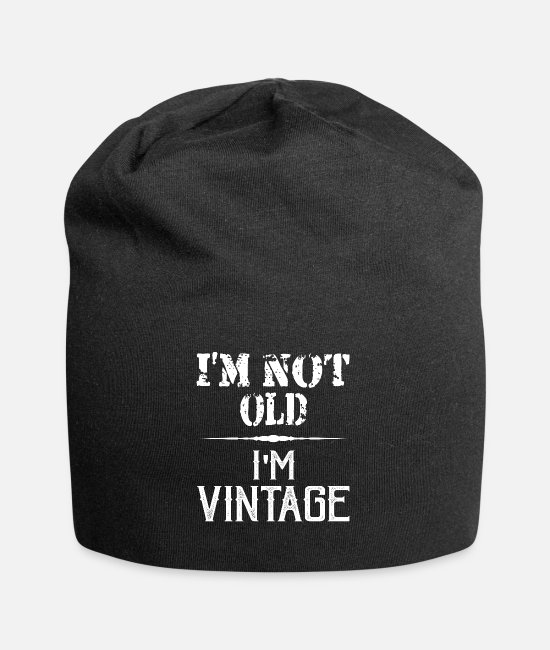 Senior Caps & Hats - T-Shirt I'm not old - old man - old woman - Beanie black