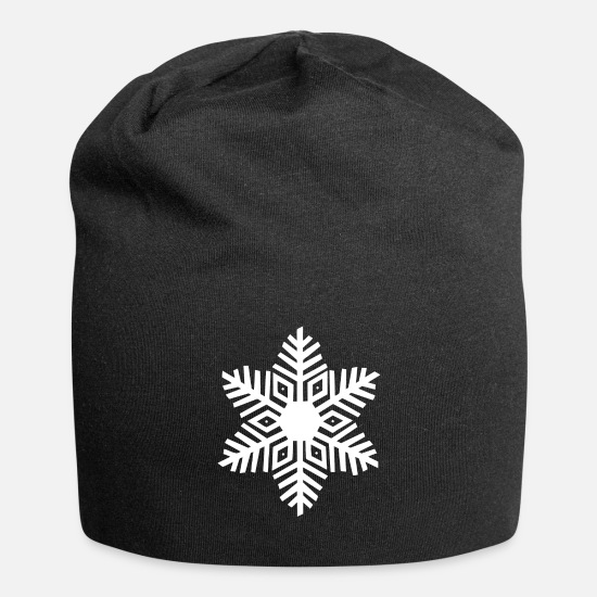Gift Idea Caps & Hats - Snowflake gift idea ice crystal - Beanie black